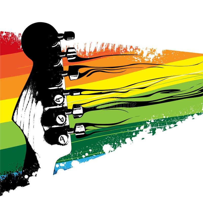цветастая гитара конструкции бесплатная иллюстрация