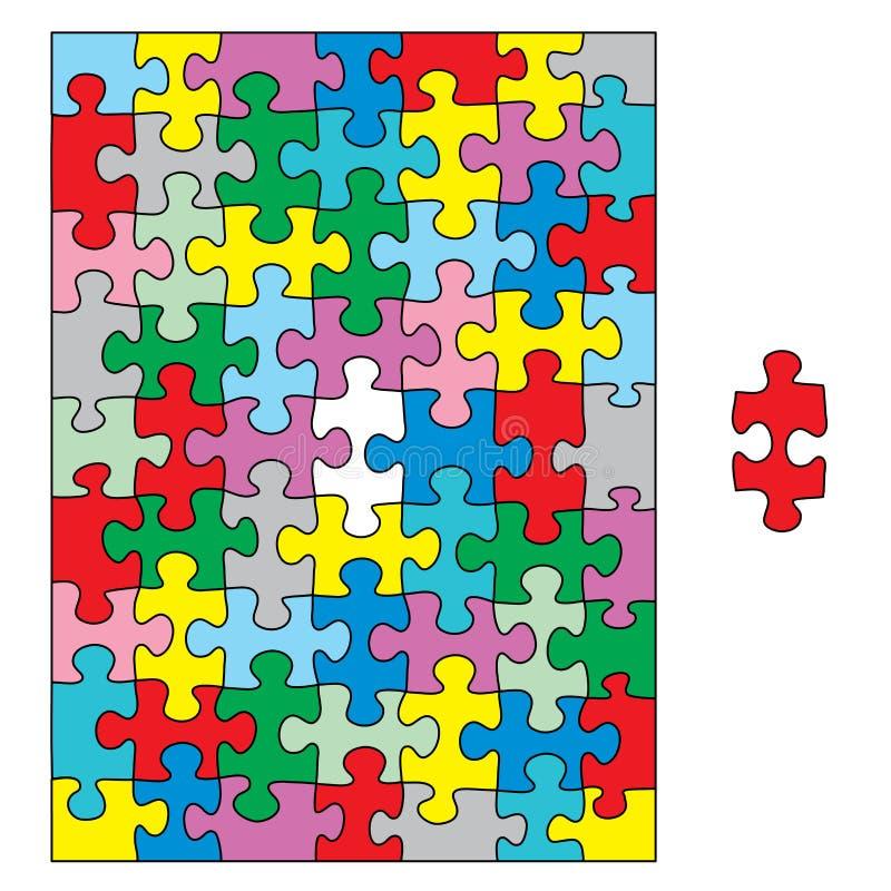 цветастая головоломка бесплатная иллюстрация