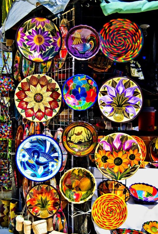 цветастая гончарня Мексики стоковое изображение rf