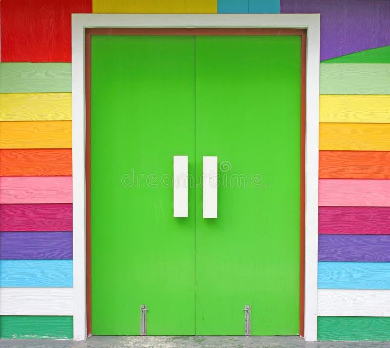 Цветастая дверь стоковая фотография rf