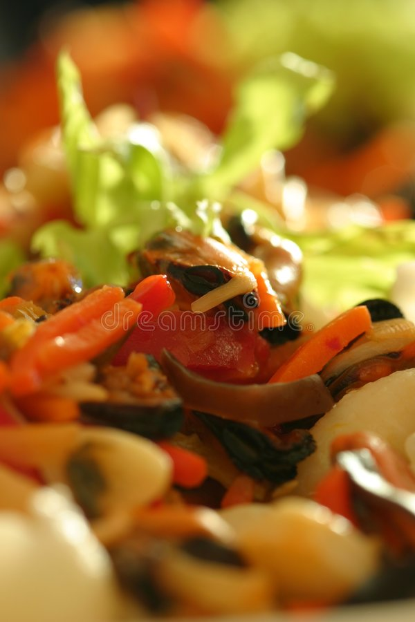 цветастая еда стоковая фотография