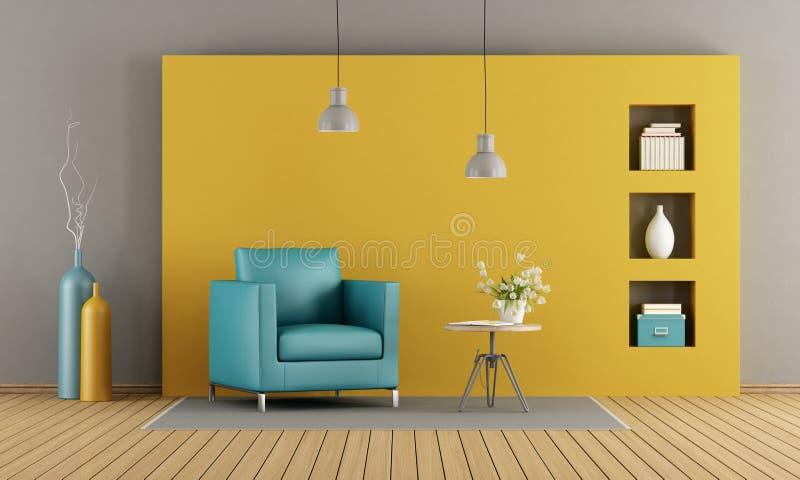 цветастая живущая комната иллюстрация штока