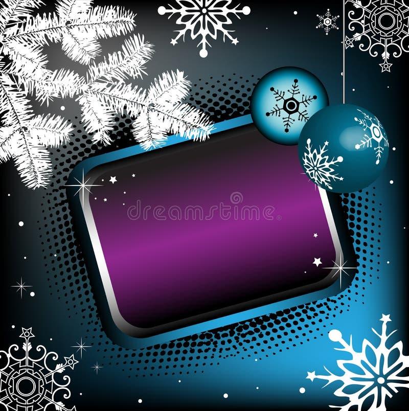цветастая зима рамки иллюстрация вектора