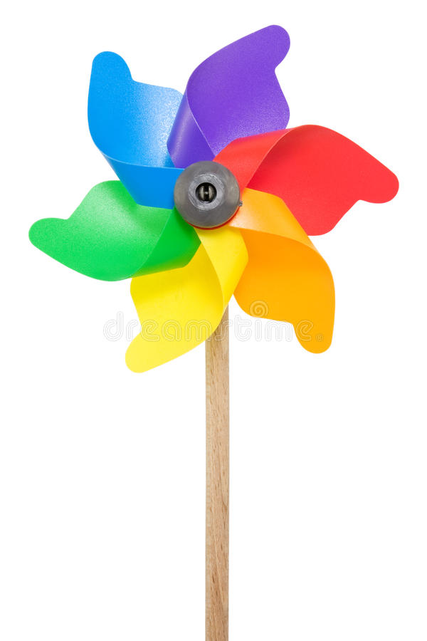 цветастая игрушка pinwheel стоковые фото