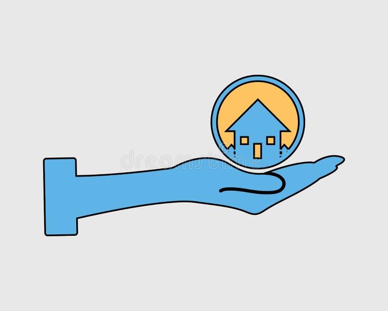Цветастая икона недвижимости бесплатная иллюстрация