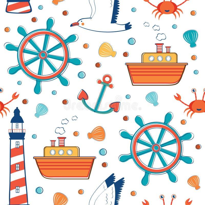 Цветастая картина моря иллюстрация вектора