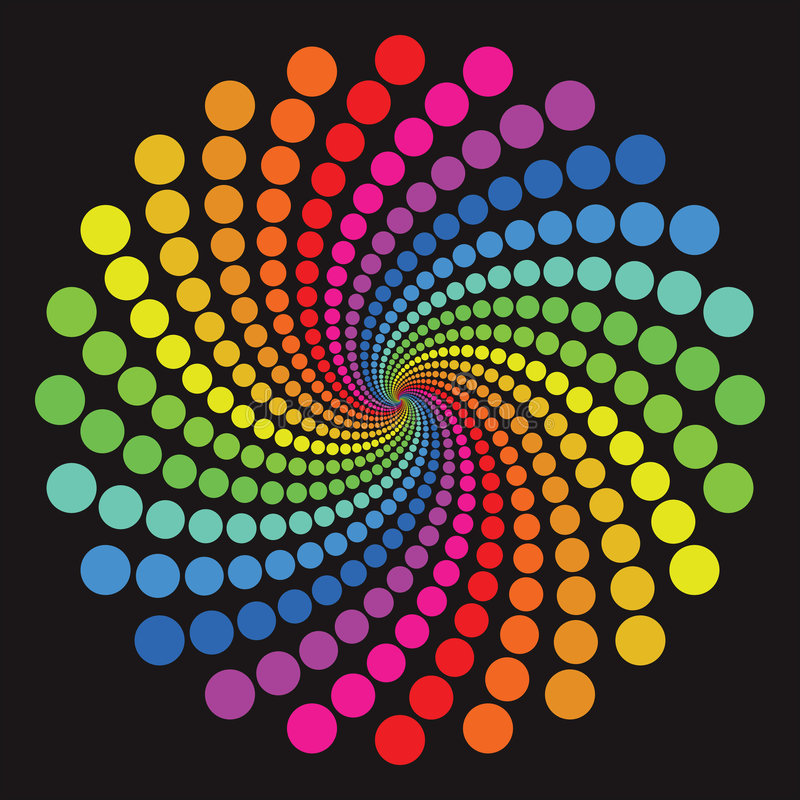 цветастая картина иллюстрация вектора