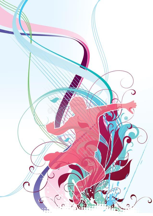 цветастая конструкция танцы бесплатная иллюстрация