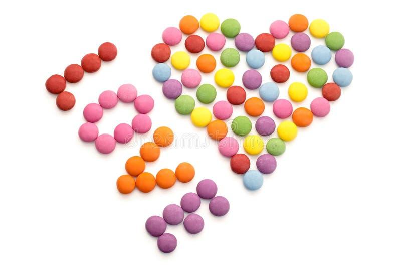 Цветастая конфета шоколада стоковое изображение rf