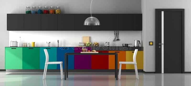 цветастая кухня самомоднейшая бесплатная иллюстрация