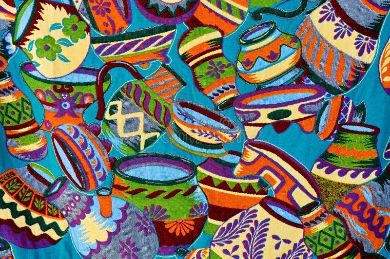 цветастая майяская ваза картины стоковое фото