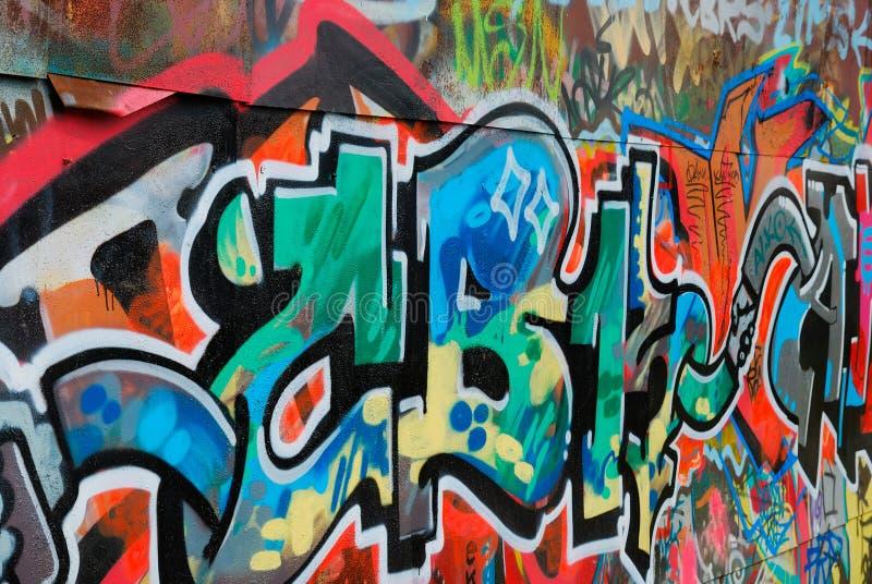 цветастая надпись на стенах стоковые изображения rf
