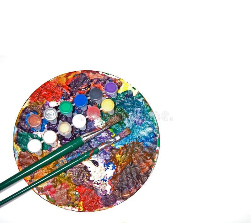 цветастая палитра краски стоковое фото rf