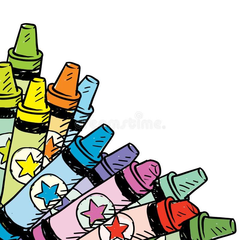 Цветастая плата угла crayon бесплатная иллюстрация