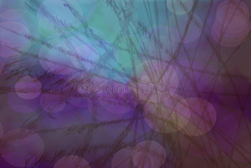 Цветастая предпосылка с пузырями и линиями бесплатная иллюстрация