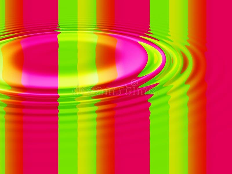 цветастая пульсация иллюстрация штока