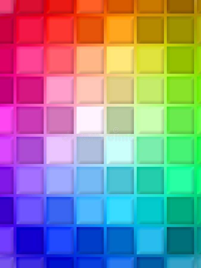 цветастая радуга иллюстрация вектора