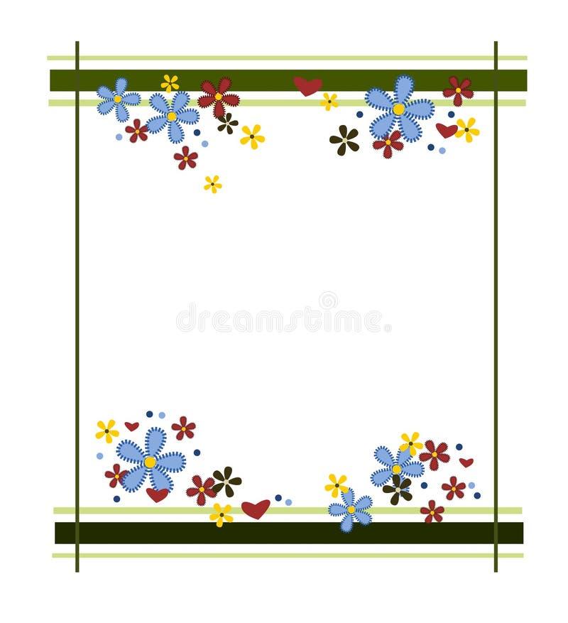цветастая рамка цветка иллюстрация штока