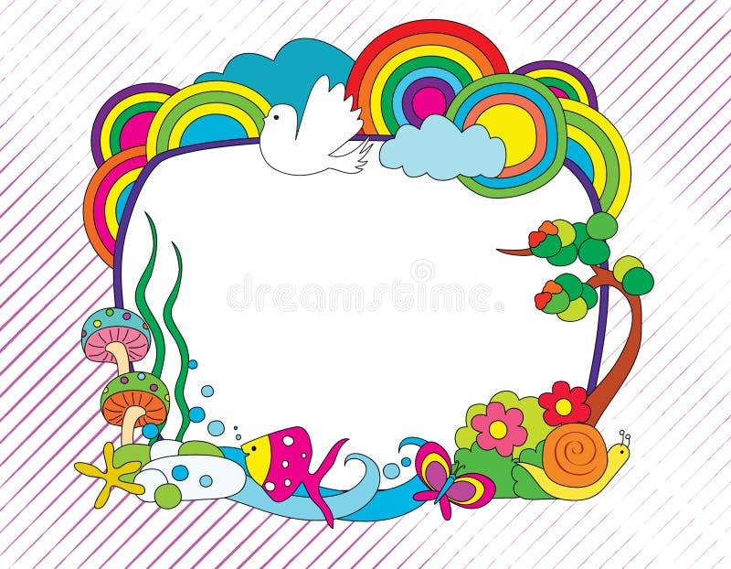 Цветастая рамка doodle