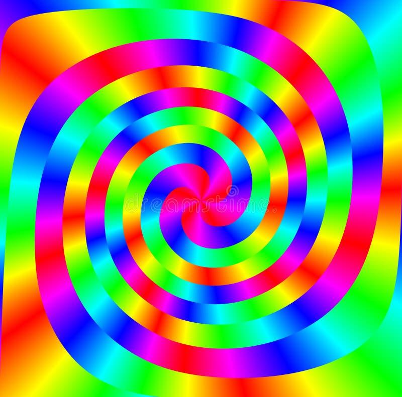 цветастая спираль иллюстрация штока