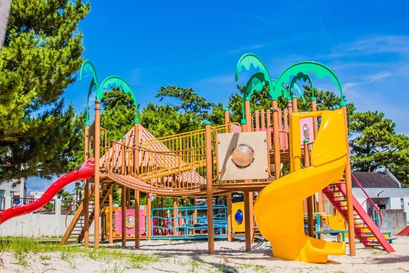 цветастая спортивная площадка стоковое фото rf