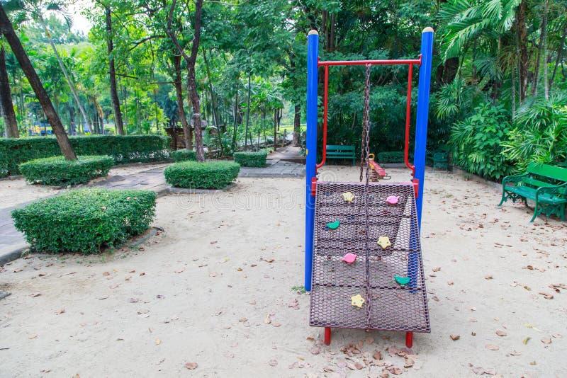Цветастая спортивная площадка детей стоковое изображение rf