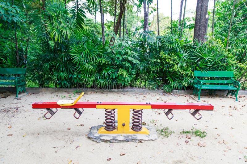 Цветастая спортивная площадка детей стоковое изображение