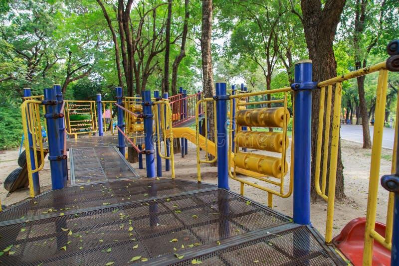 Цветастая спортивная площадка детей стоковое фото rf