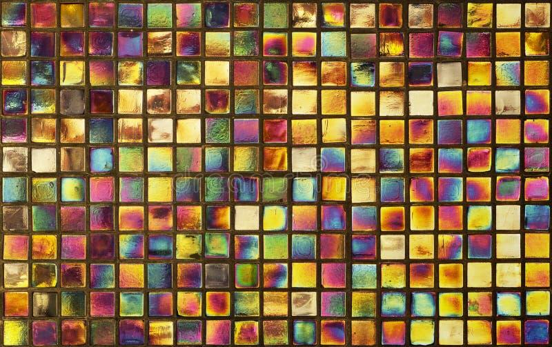 Цветастая стена мозаики для предпосылки стоковое изображение rf