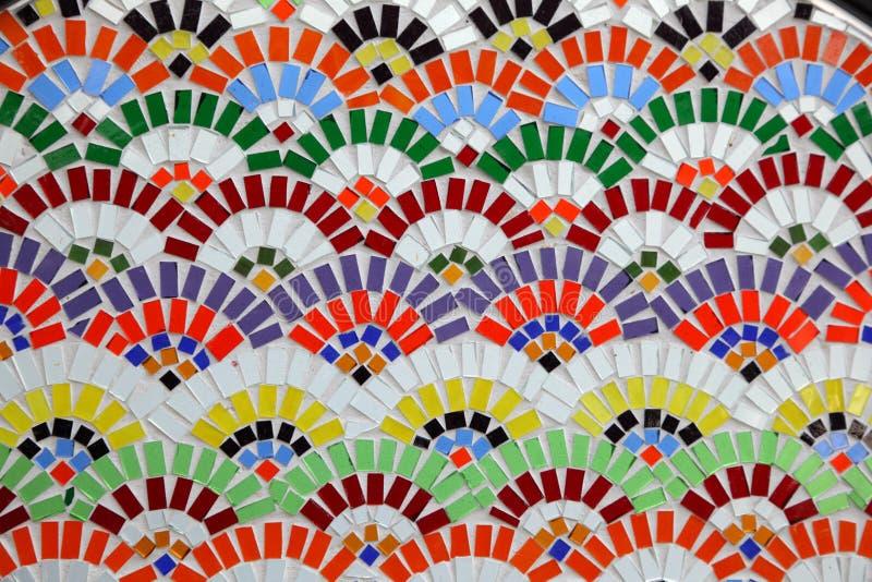 цветастая стена мозаики стоковые фото
