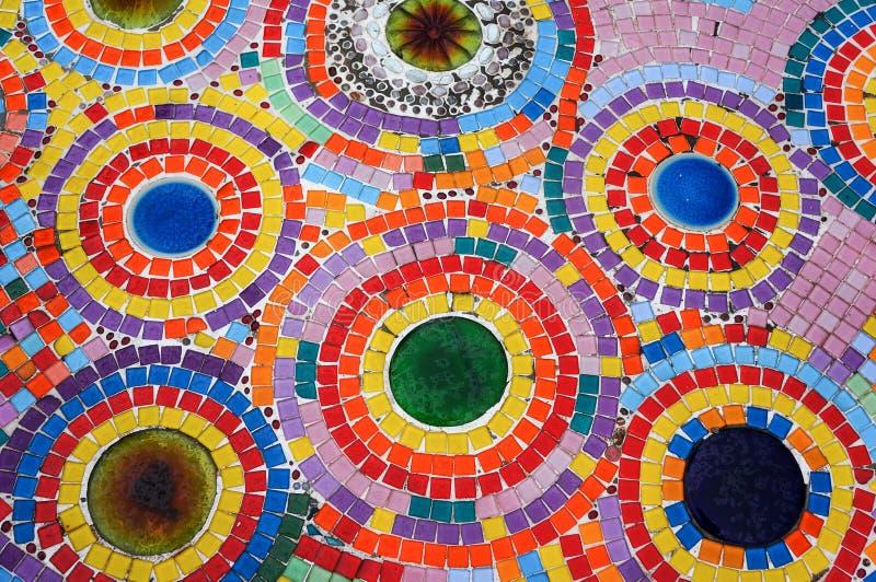Цветастая стена мозаики стоковые изображения rf