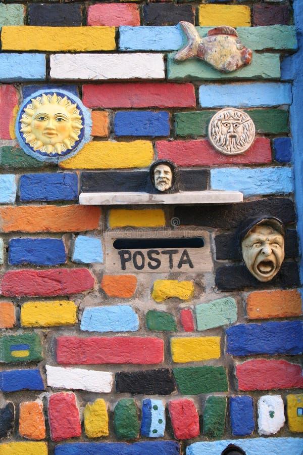 цветастая стена стоковые фото