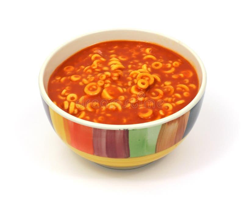 цветастая тарелка звенит спагетти стоковая фотография rf