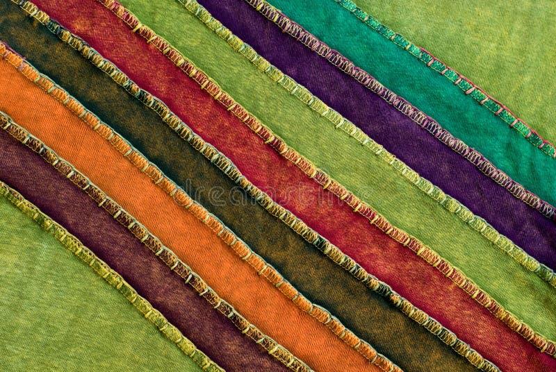 цветастая текстура тканья ткани стоковое изображение rf