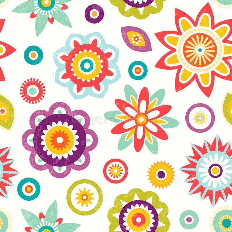 цветастая флористическая картина безшовная иллюстрация вектора