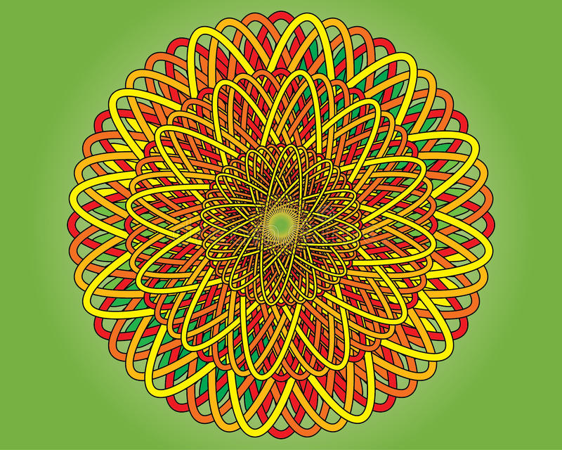 Цветастая циновка иллюстрация штока