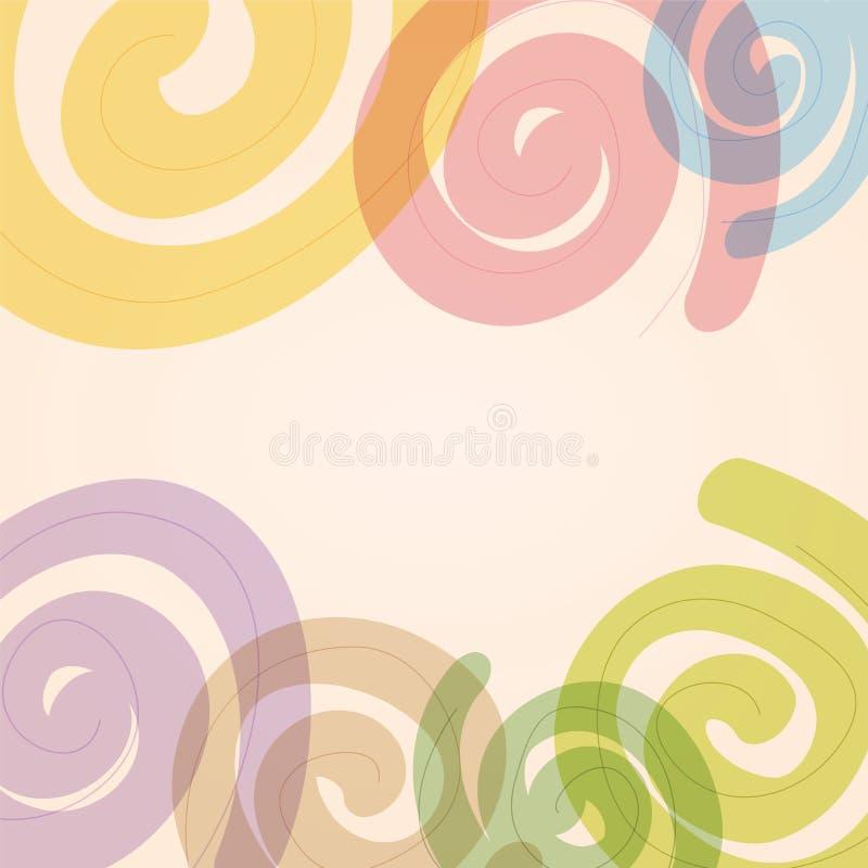 цветастое абстрактной предпосылки круговое бесплатная иллюстрация