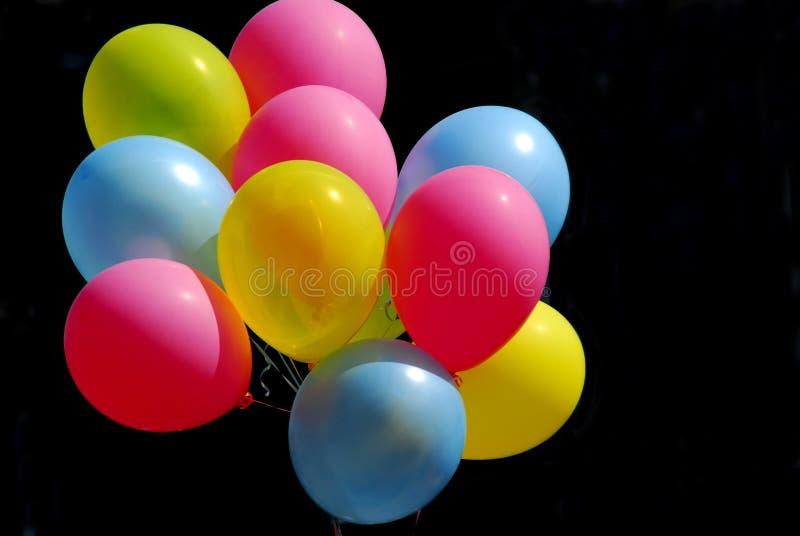 цветастое воздушных шаров черное стоковые изображения rf