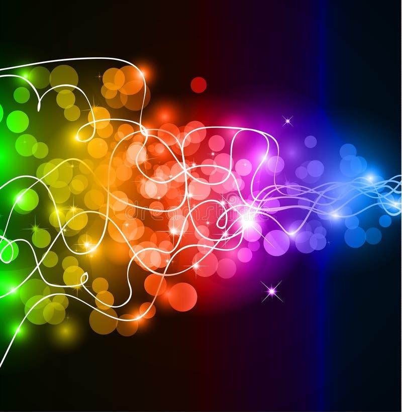 цветастое зарево если радуга светов иллюстрация штока