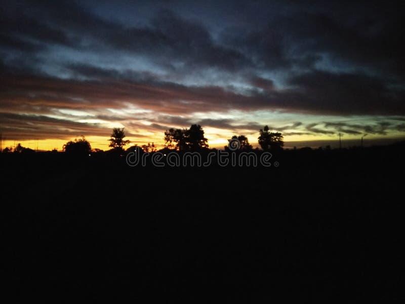 цветастое небо стоковое фото rf