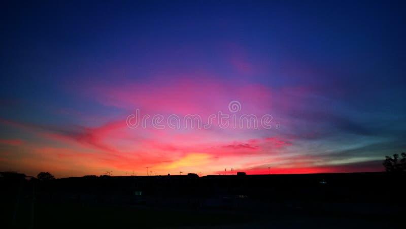 цветастое небо стоковые фотографии rf