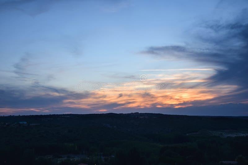 цветастое небо стоковое фото
