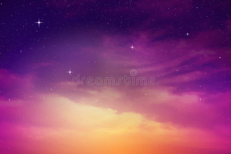 цветастое ночное небо стоковое фото