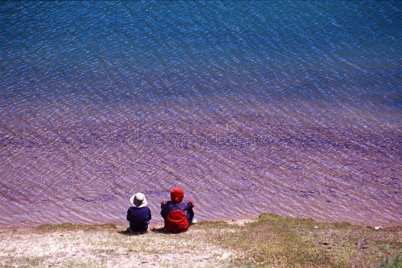 цветастое озеро стоковая фотография