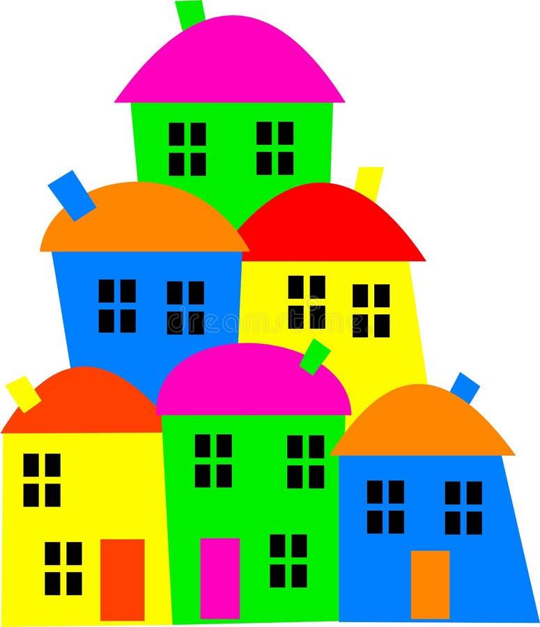 цветастое село бесплатная иллюстрация