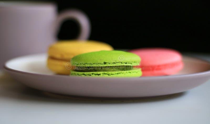 цветастое macaron стоковое фото rf