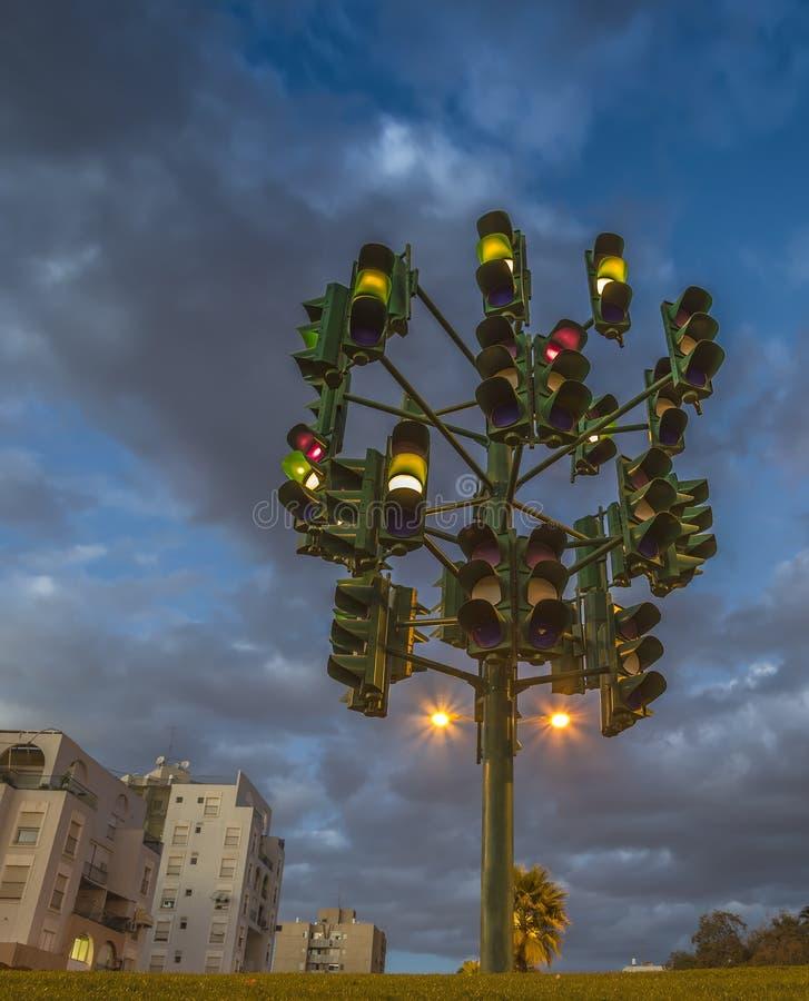 Цветастое trafficlight стоковая фотография rf
