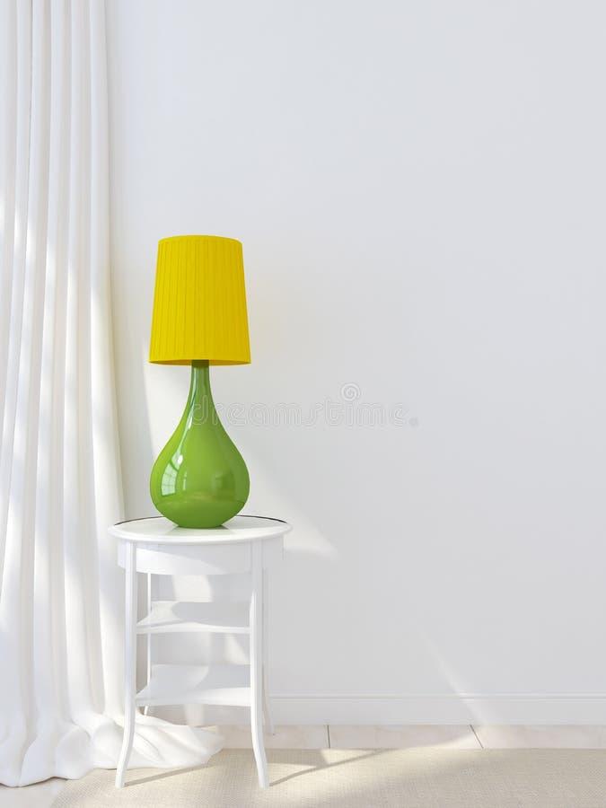 Цветастые лампа и занавесы стоковые изображения rf