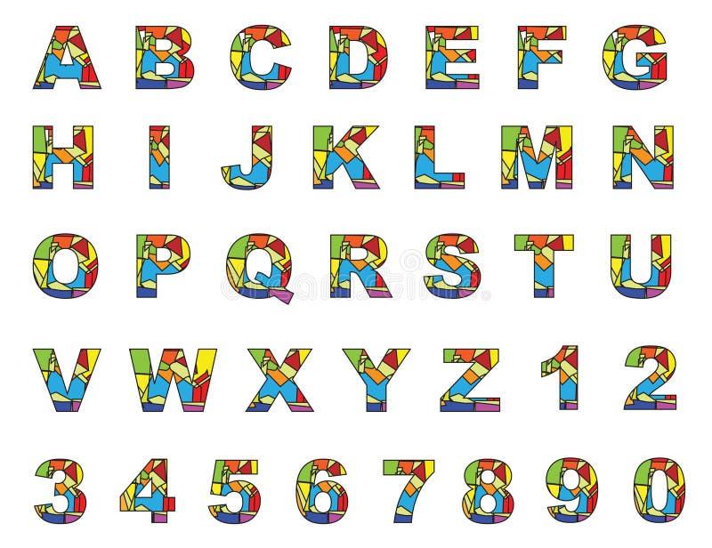 цветастые английские письма к z иллюстрация штока