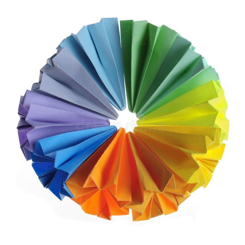 цветастые блоки origami стоковая фотография